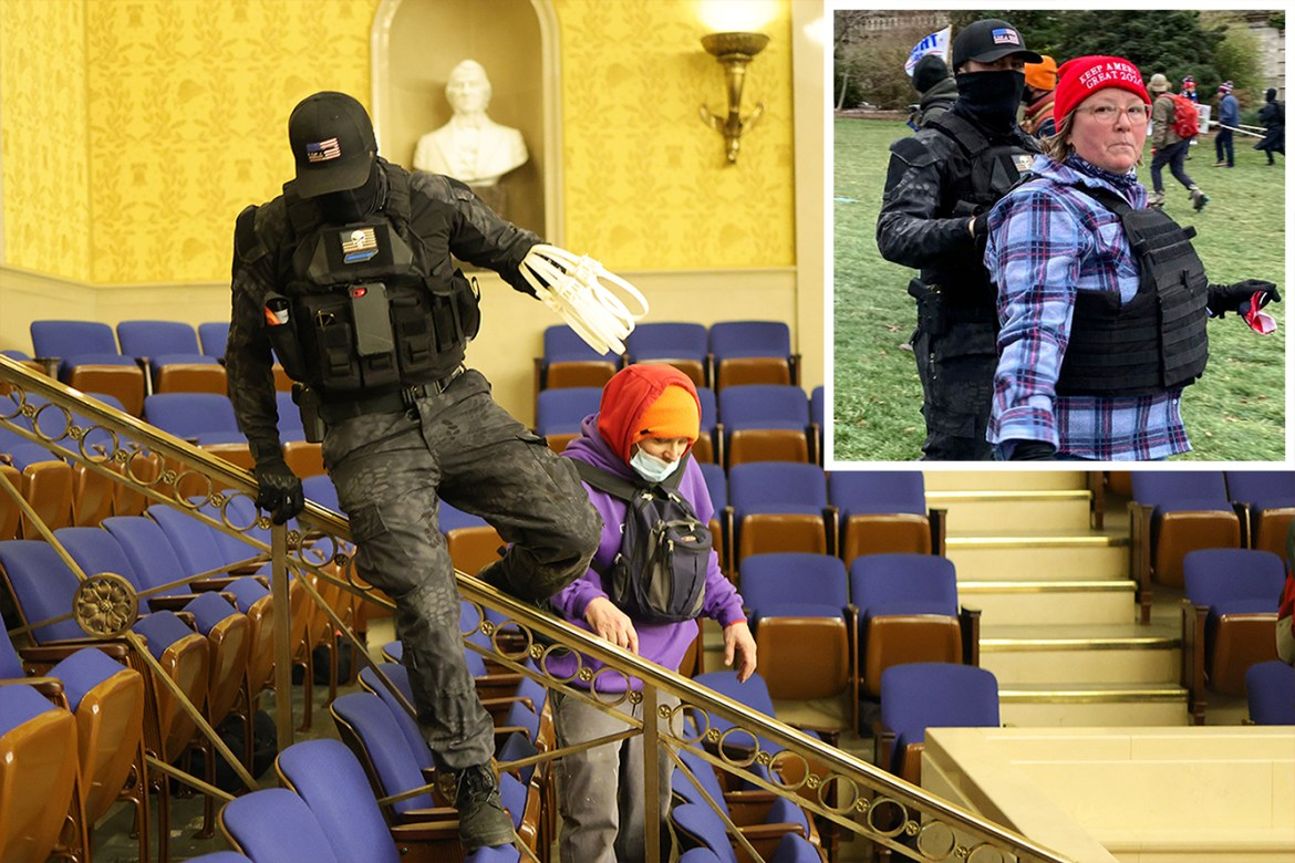 Capitol rioter seen in paramilitary gear reportedly breached building with mom 1
