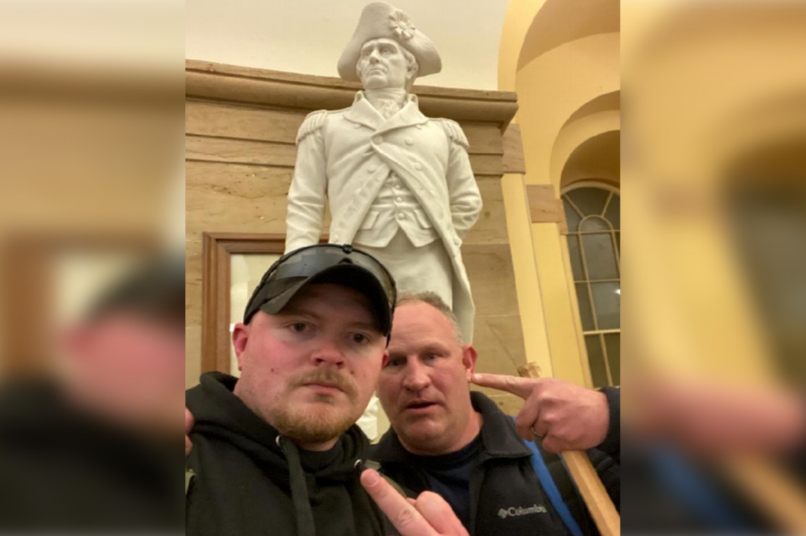 Two Virginia cops federally charged with storming US Capitol 1
