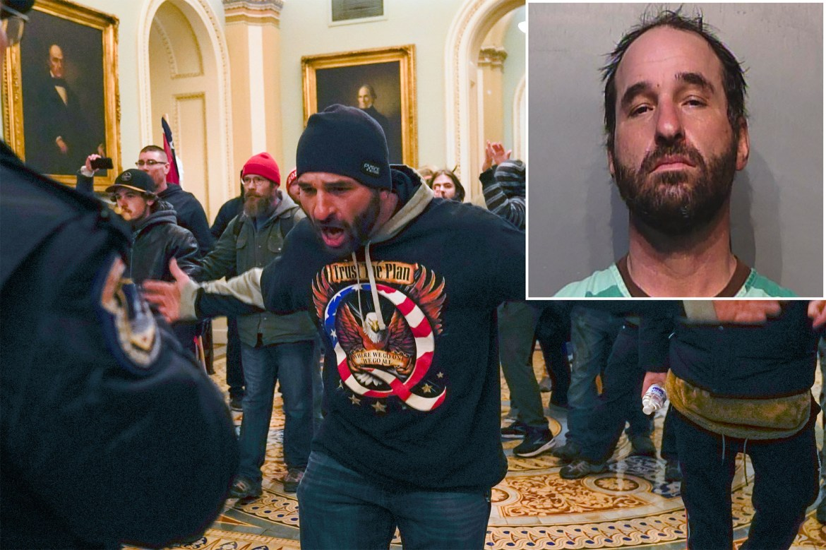 Doug Jensen, man seen chasing Capitol Hill cop, charged with federal crimes 1