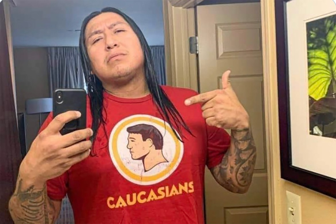 This 'Caucasians' T-shirt is going viral for mocking NFL's Redskins 1