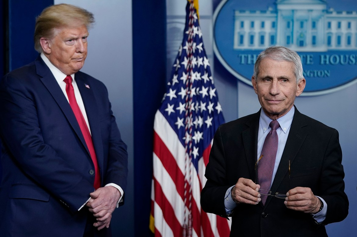 President Trump rails against media coverage of Fauci: 'He works for me' 1