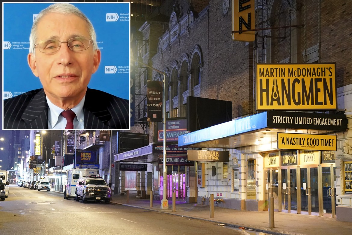 Fauci says when live shows will be back — depending on vaccine rollout 1