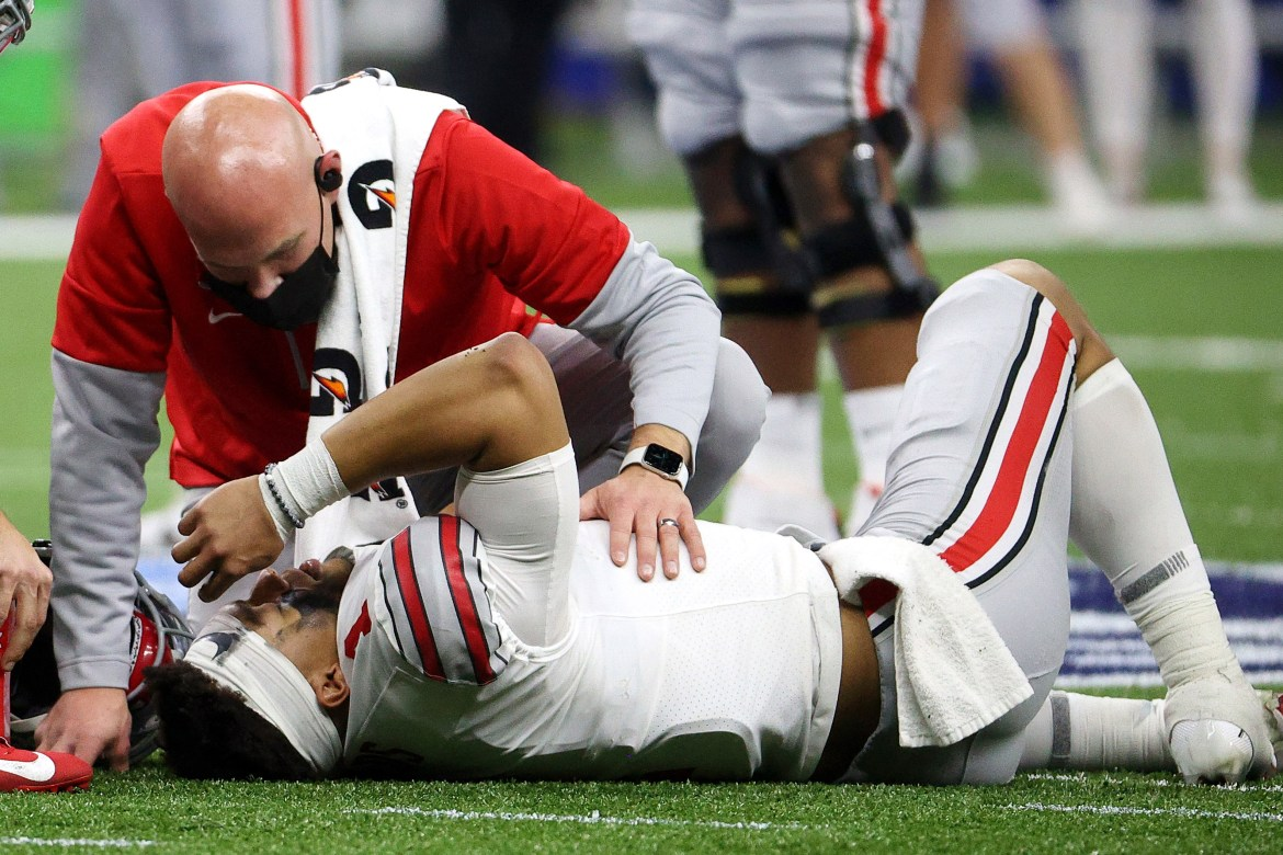 Ohio State vague on 'messed up' Justin Fields injury ahead of title game 1