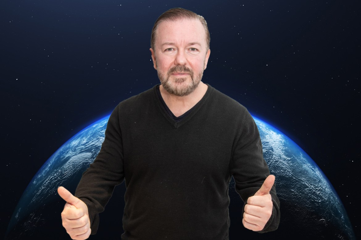 Ricky Gervais turns down chance to be first stand-up comic in space 1