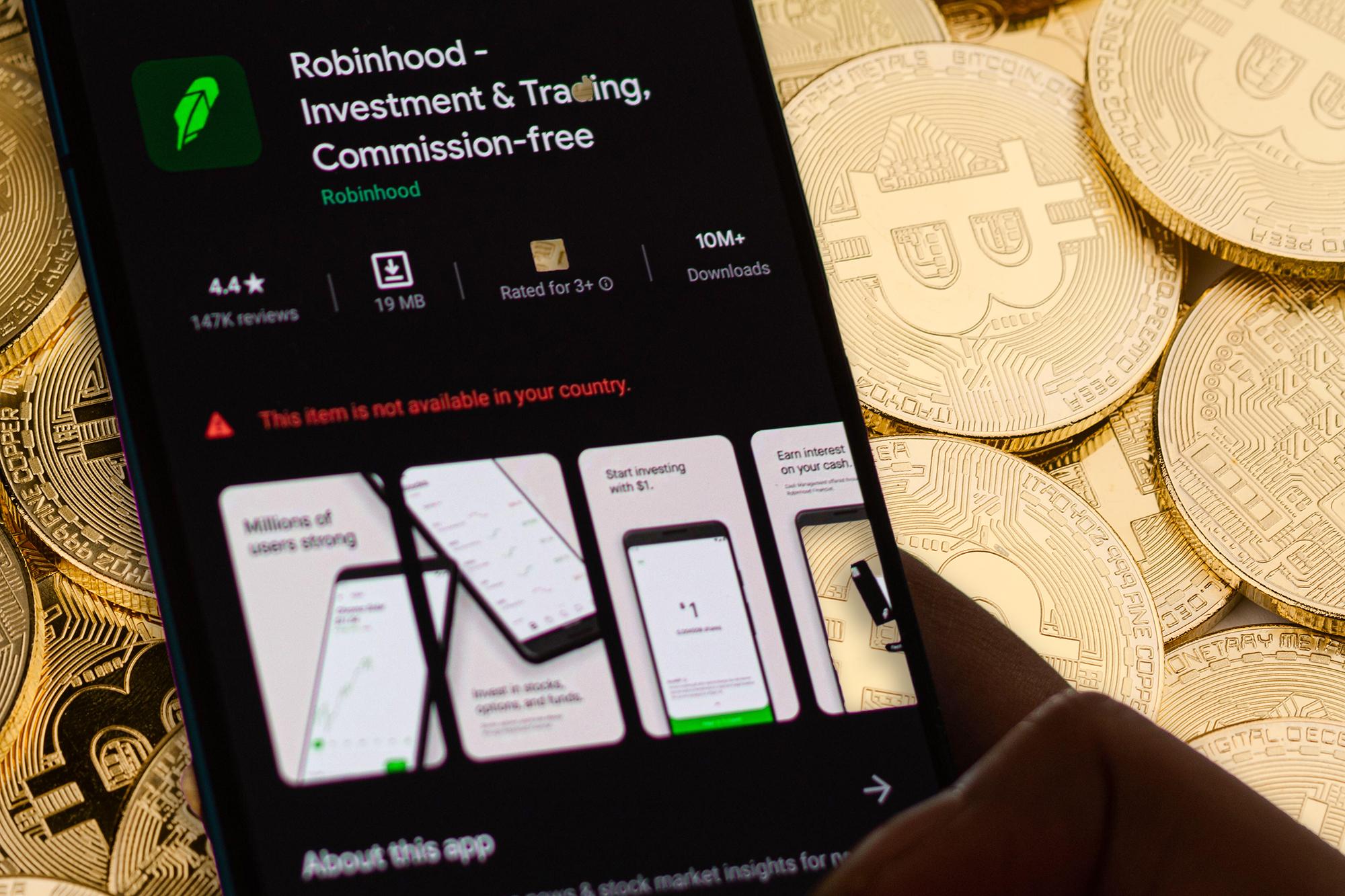 Robinhood limits crypto trading as Bitcoin, Dogecoin surge