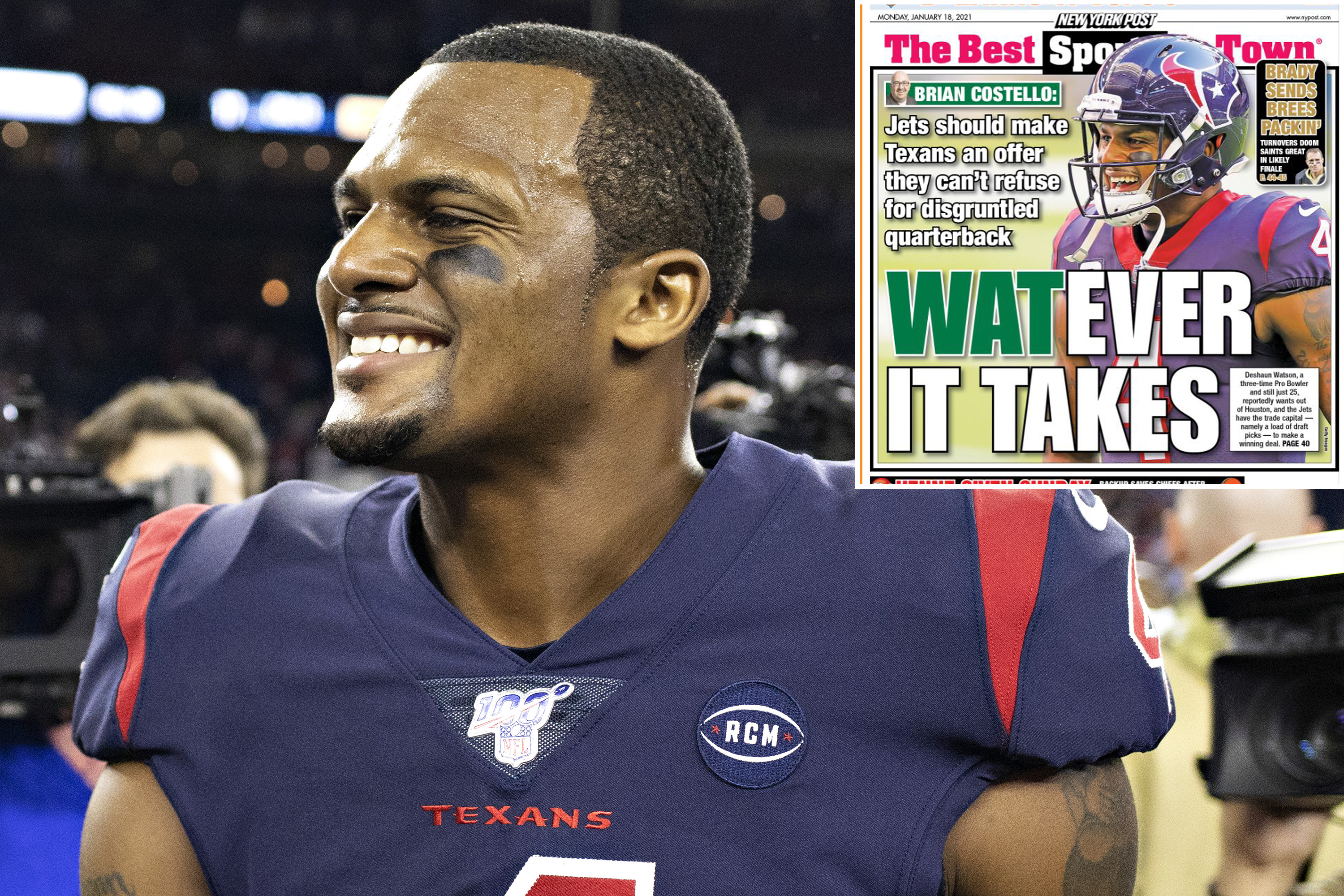 Deshaun Watson ramps up Jets trade buzz with Post 'like'