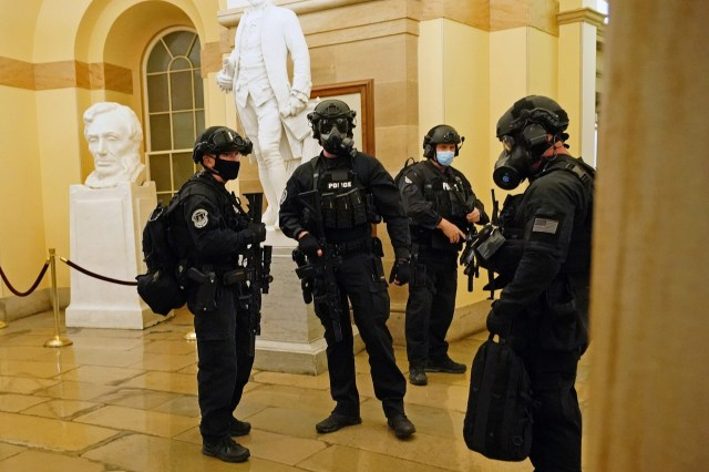 Acting Capitol Hill Police Chief Yogananda Pittman says 35 officers are currently under investigation for not taking action against rioters.
