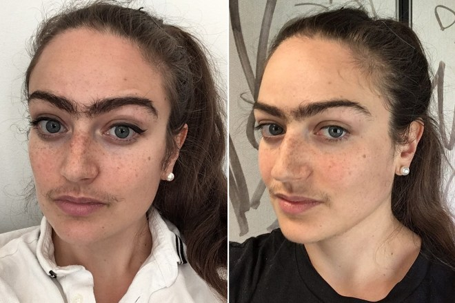 Danish woman Eldina Jaganjac is done with shaving her upper lip back and trimming her unibrow to cope with freaky looks from men.