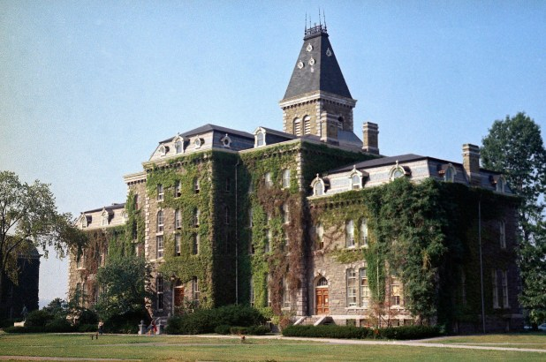 McGraw Hall stands on the campus of Cornell University in Ithaca, NY.