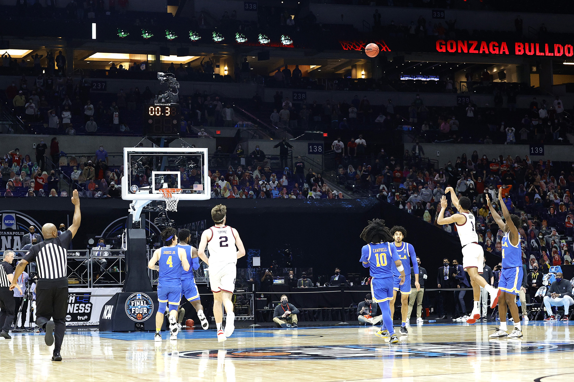 Jack Beach Gonzaga Bulldogs Final Four Basketball Jersey - White