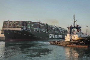 Egypt requires a large fee from Ever Given owners for the ship trapped in the Suez Canal