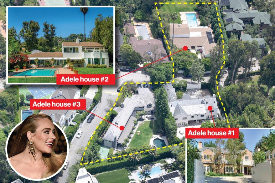 Adele buys third Beverly Hills home from pal Nicole Richie.