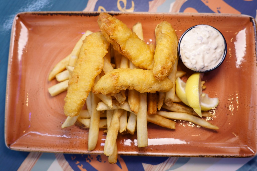 Fish and chips at Margaritaville in Times Square.