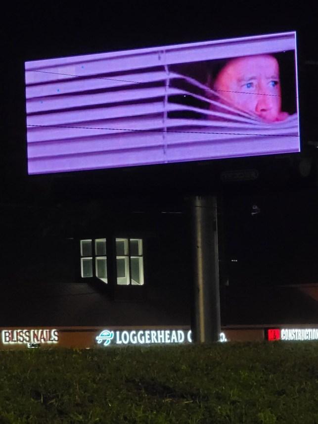 A billboard in Wilmington, North Carolina, satirizing President Joe Biden.