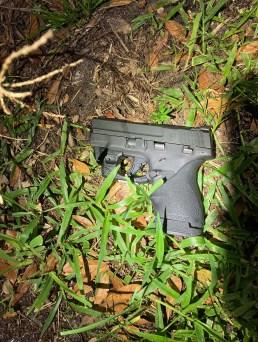 The handgun found near Sanchez's car.