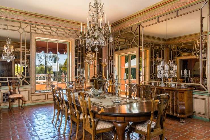 The dining room is pictured.