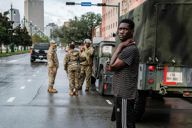 The National Guard said they had activated 4,900 Guard personnel and several boats on standby.