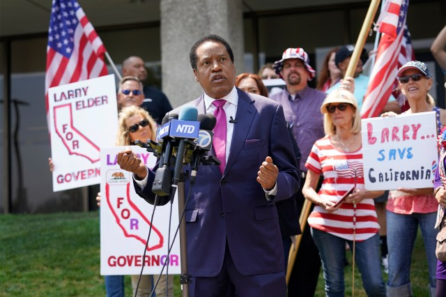 Radio host Larry Elder may be Gov. Newsom's strongest competition in the recall election.