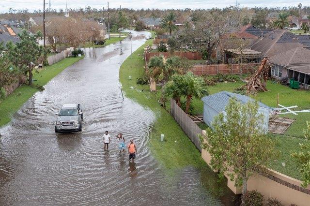 Hurricane Ida left severe flooding in the region of Lake Pontchartrain.