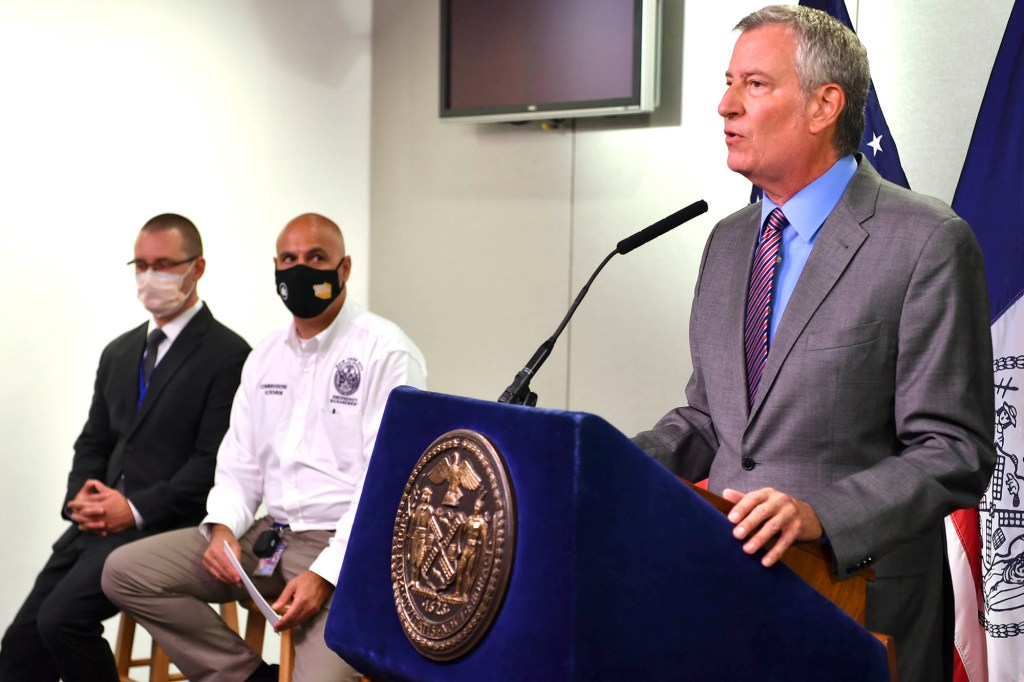 """Bill de Blasio mentioned there are still """"huge questions"""" surrounding Andrew Cuomo's nursing home scandal."""