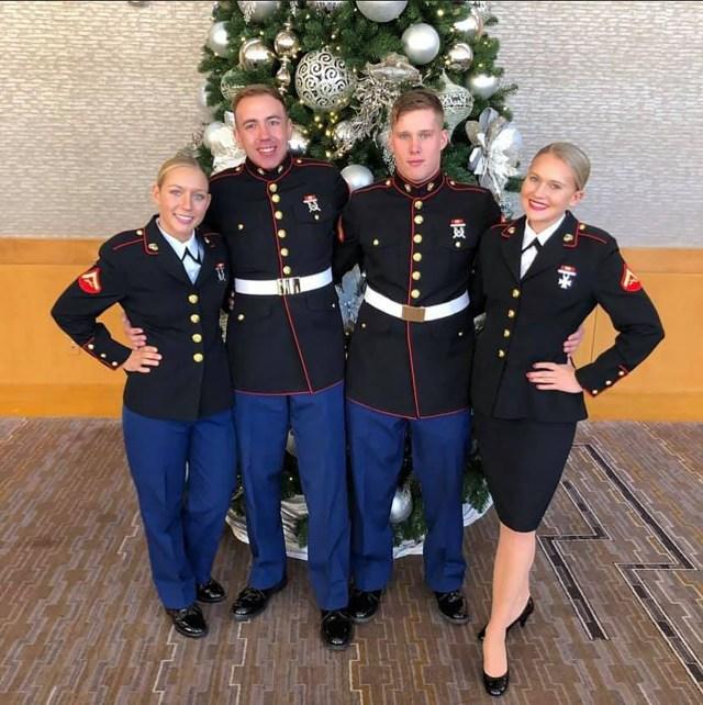 Sgt. Nicole Gee, far left,