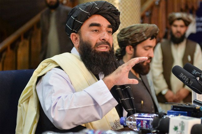 Taliban spokesperson Zabihullah Mujahid said rights will be afforded to women with Islamic law when he spoke during a press conference on August 17, 2021.
