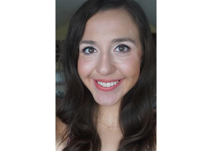Victoria Giardina wearing Too Faced 'Level Up' Em-Power Lipstick