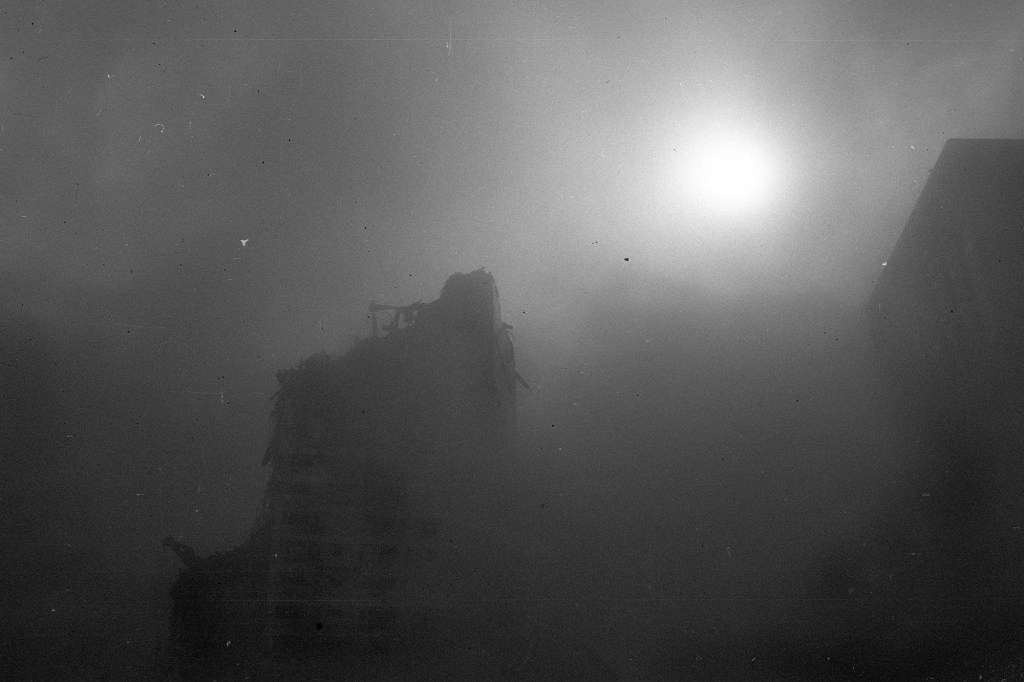 September 11, 2001. Marriot Hotel between collapses