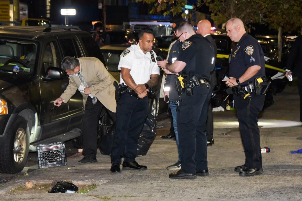 Cops on the scene.
