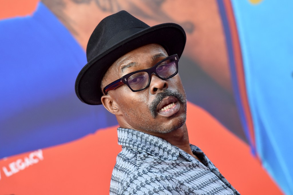 """Wood Harris attends the Premiere of Warner Bros """"Space Jam: A New Legacy"""" at Regal LA Live on July 12, 2021 in Los Angeles."""