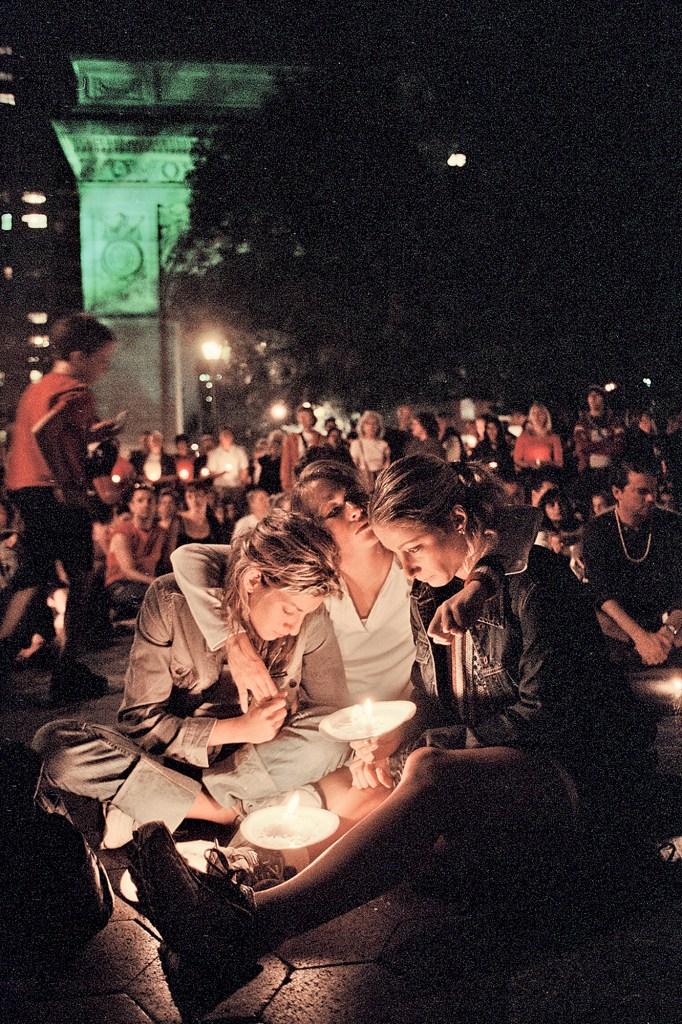 Vigil for the 9/11 World Trade Center attacks .