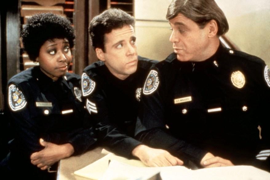 "Art Metrano (right) in ""Police Academy 2."""