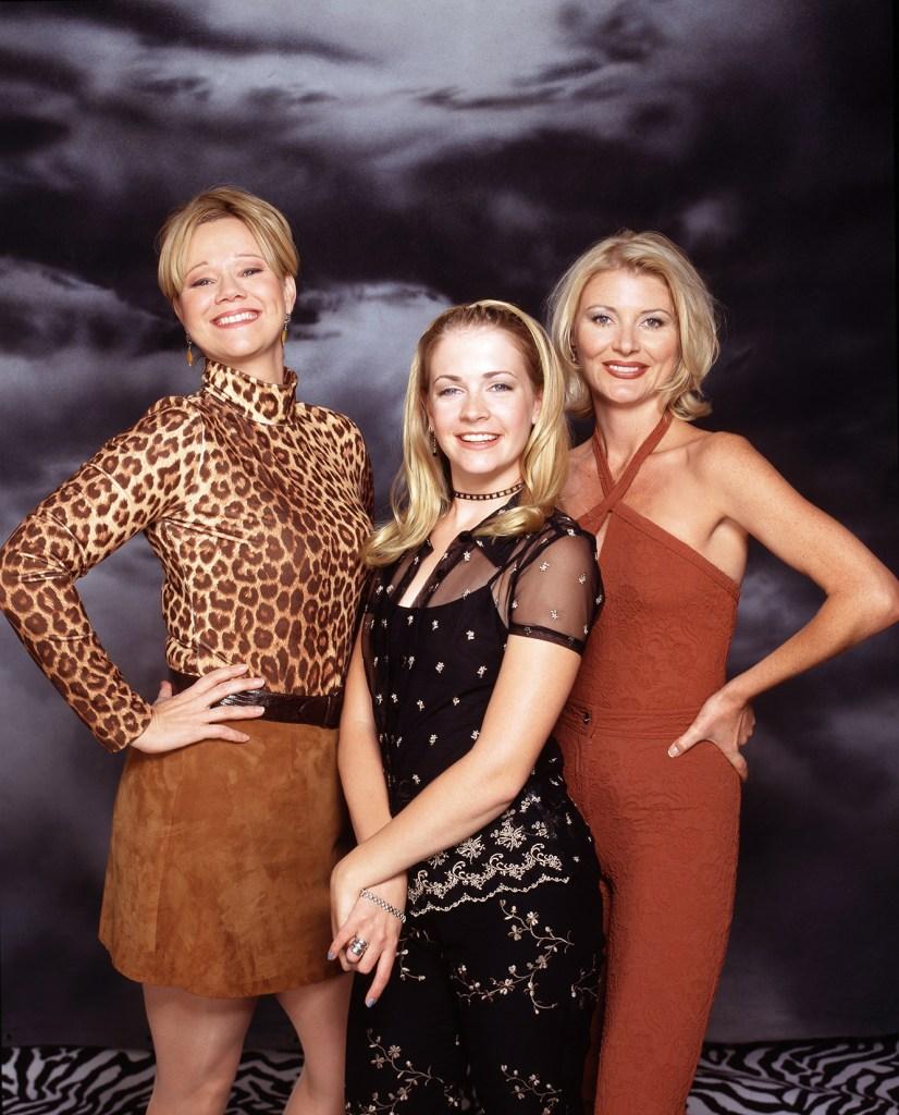 Caroline Rhea, Melissa Joan Hart and Beth Broderick.