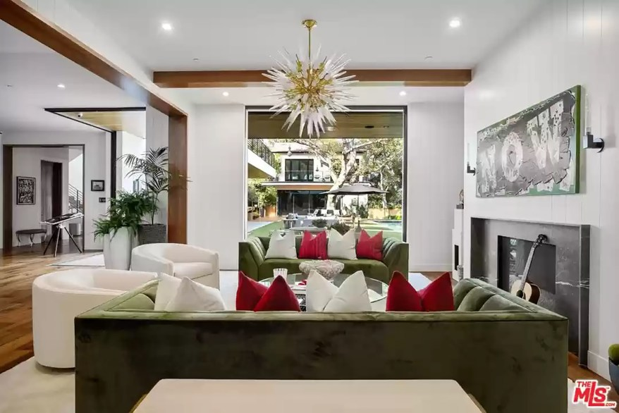 The Encino living room is pictured from another angle.