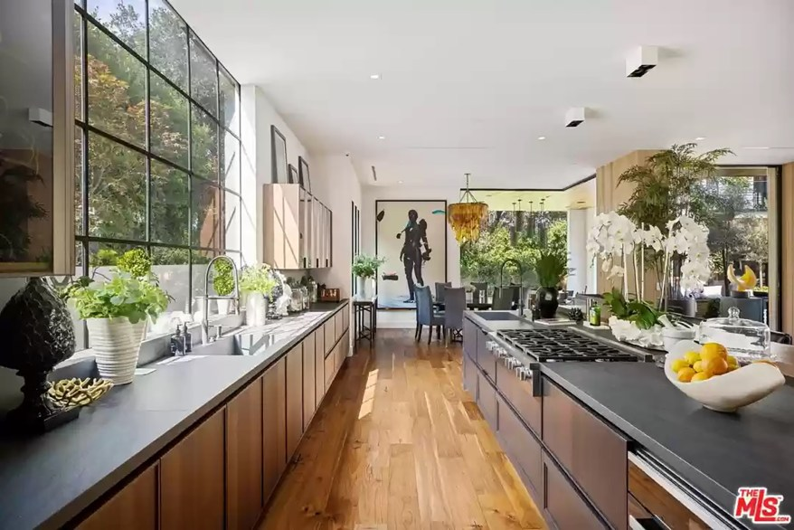 The couple's Los Angeles kitchen is pictured.