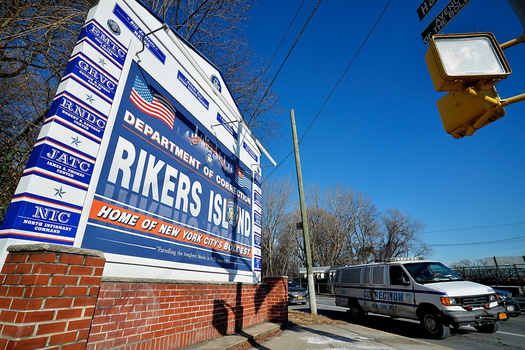 Rikers Island in front of the George A. Motchan Detention Center.