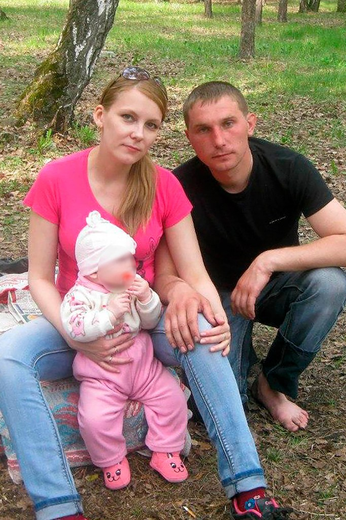 Vyacheslav M. with his wife and daughter, then a baby.