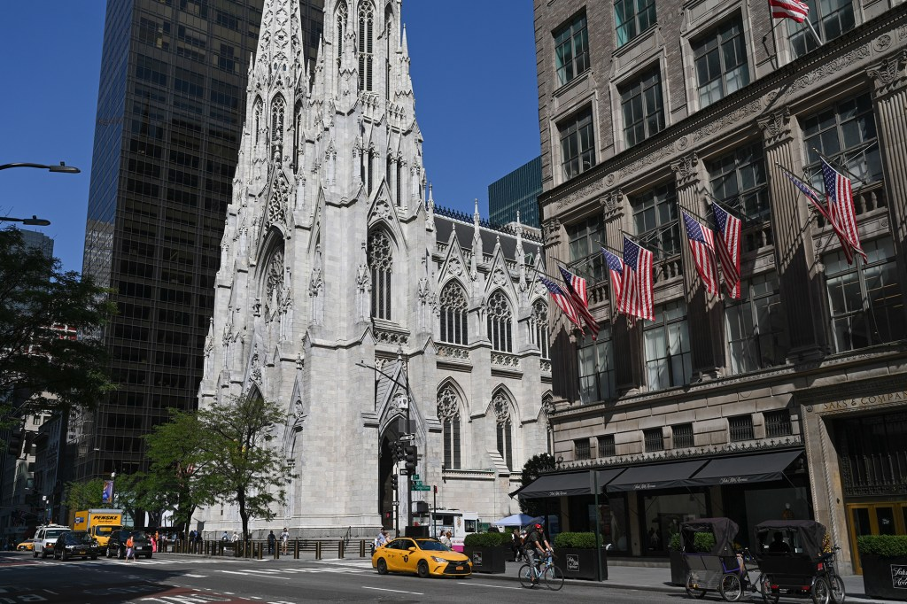 St. Patrick's Cathedral on Fifth Avenue in Manhattan.