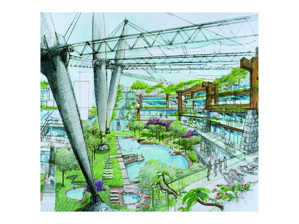 There will be 193,000-square-feet of lagoons and other aquatic components.