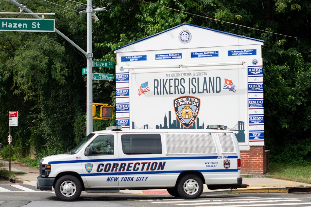 """Bill de Blasio said """"we'll figure out a date"""" to go to Rikers Island."""