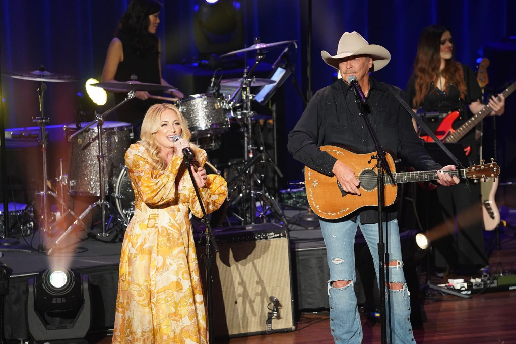 Alan Jackson and Lee Ann Womack perform during the 14th Annual Academy Of Country Music Honors at Ryman Auditorium on August 25, 2021 in Nashville, Tennessee.