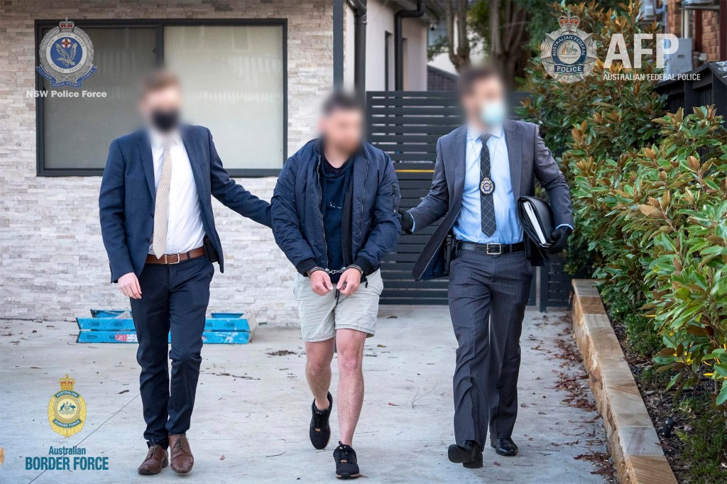 the arrest of a 29-year-old man from Sydney