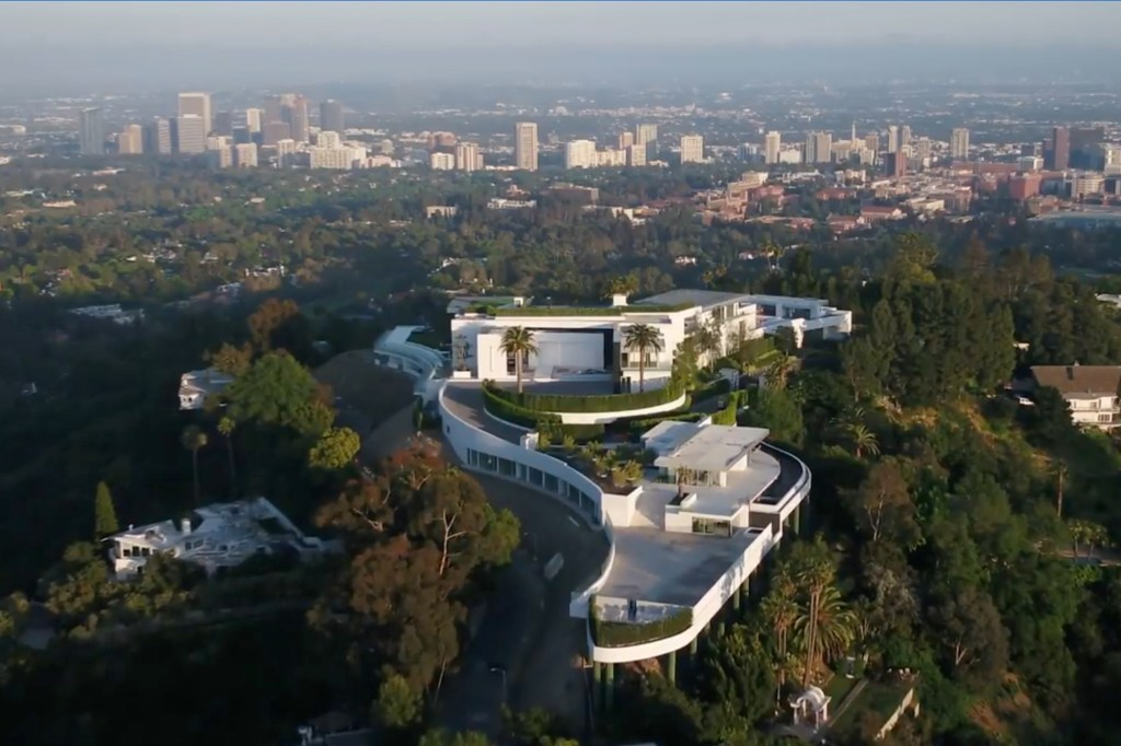 """105,000-square-foot hilltop estate, known as """"The One,"""" in ritzy Bel Air, fell into receivership with the Los Angeles Supreme Court when Niami went into massive debt."""