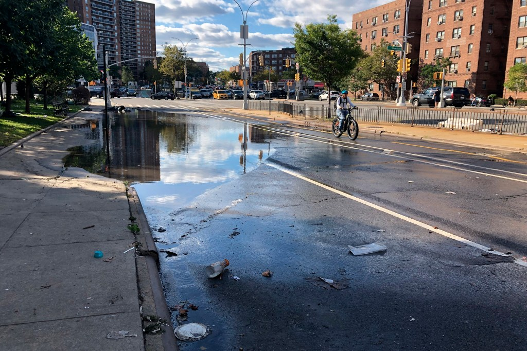 Flooding seen on Queens Boulevard in Forest Hills after Ida.
