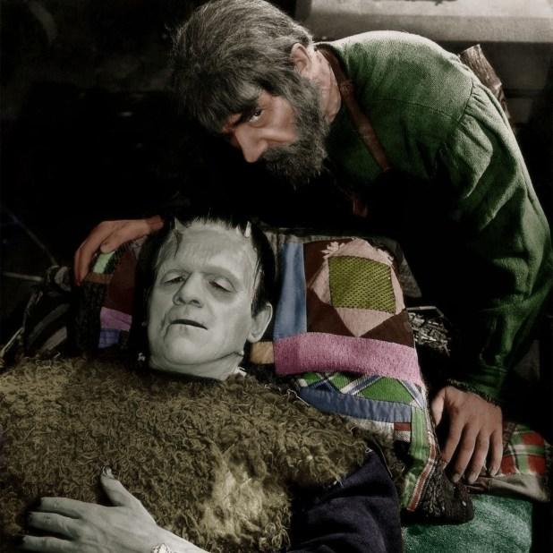 """Karloff in """"The Bride of Frankenstein"""""""