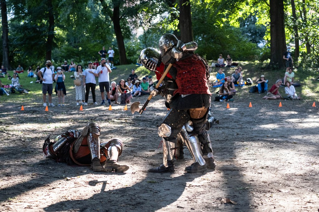 Gladiators NYC hosted an armored combat event in Central Park on Sept. 4, 2021.