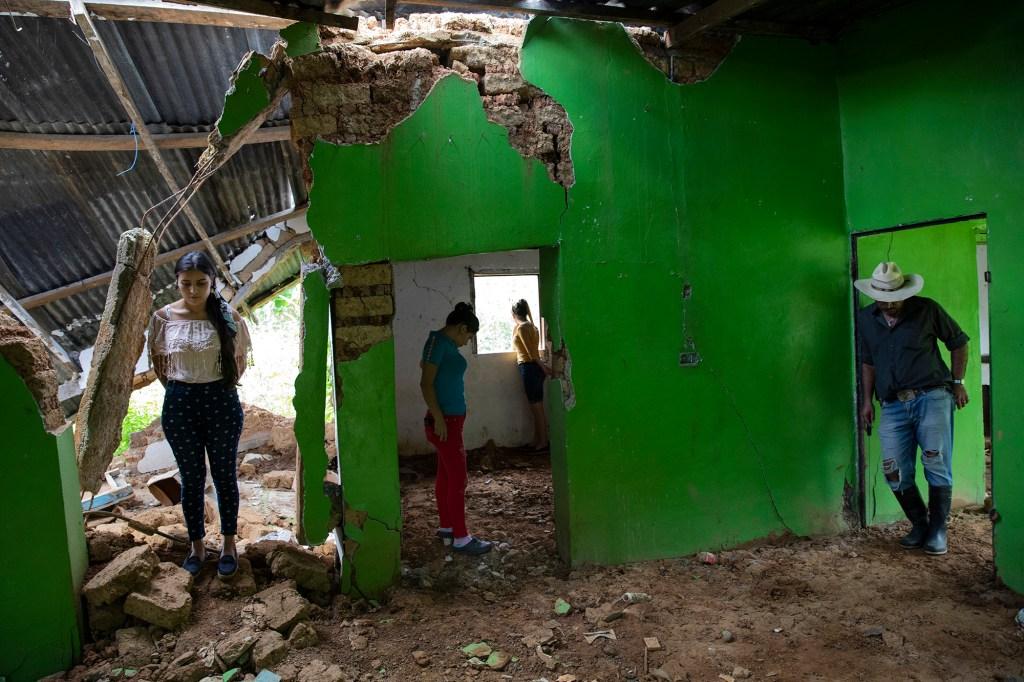 Landslide victims in Honduras