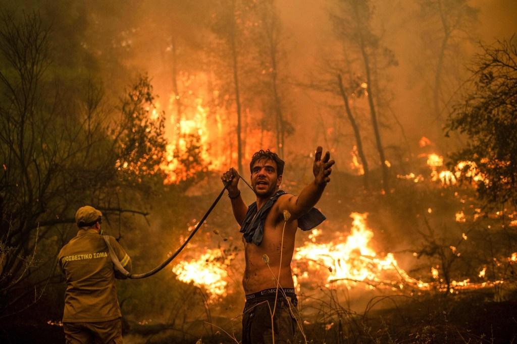 Wildfire in Evia, Greece