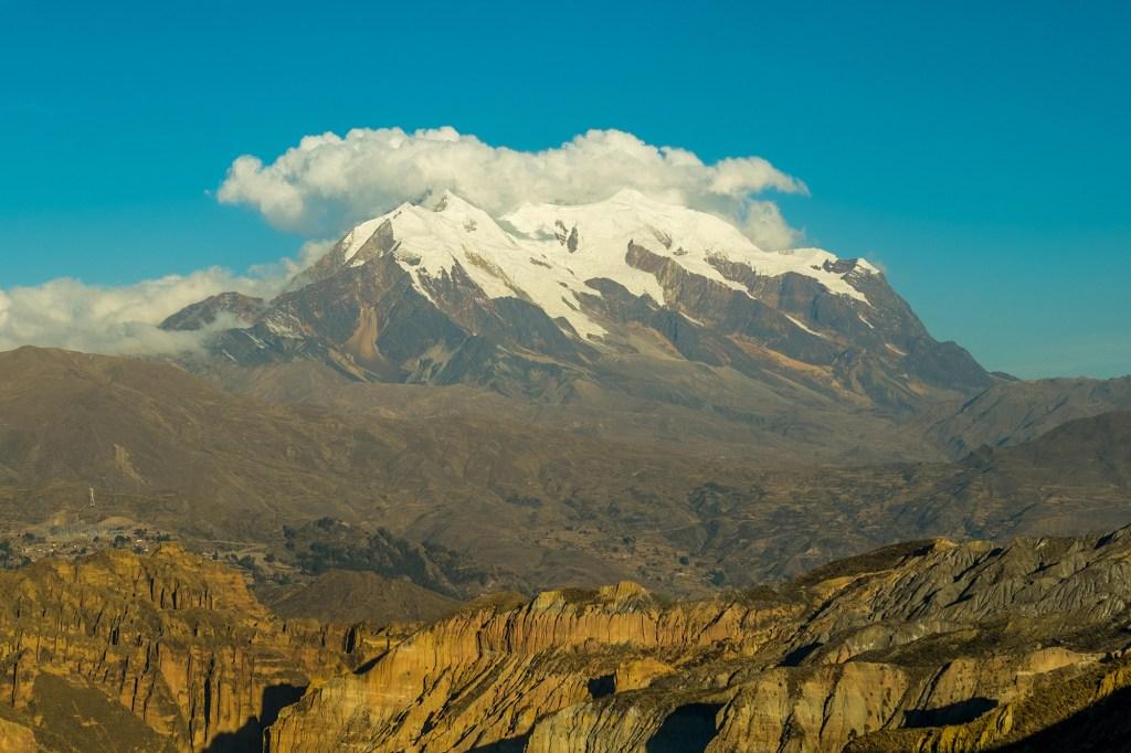 Illimani Mountain.