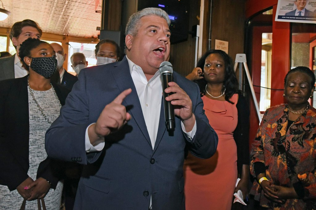 Brooklyn District Attorney Eric Gonzalez at the fundraiser.